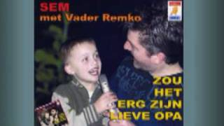 """2006 03 31 Sem 5 jaar oud zingt, """"Zou het erg zijn lieve opa"""""""
