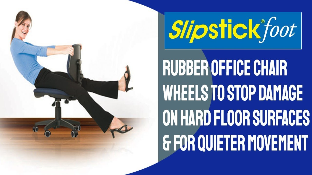 slipstick foot rubber office chair wheels replacement for plastic