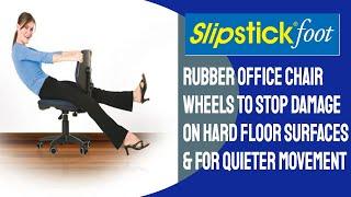 Slipstick Foot Rubber Office Chair Wheels Replacement For Plastic Office Chair Wheels