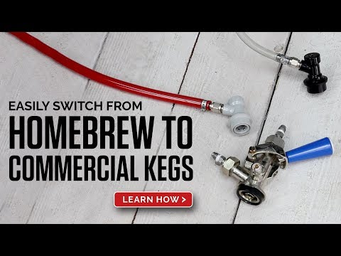 How To Switch From Homebrew Corny Keg Fittings To Commercial Sanke Coulpers