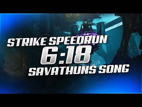 "Destiny 2 - WORLD RECORD ""Savathun's Song"" Strike Speedrun [6:18]"