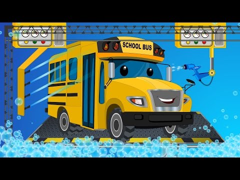 School bus | car wash | childrens cartoon street vehicles