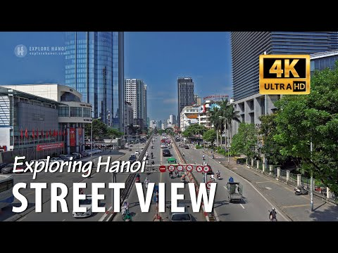 Hanoi street view in 4k - Vietnam capital city