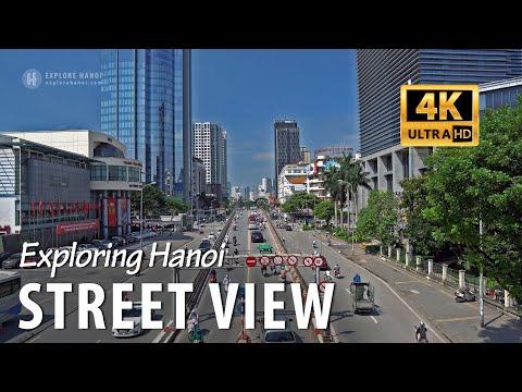 Hanoi street view in 4k - Vietnam capital city 2019
