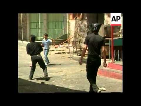 Stone throwing by Palestinian youths