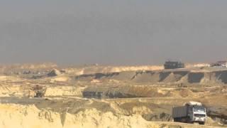 مشهد عام للحفر فى منطقة المنصة ديسمبر 2014
