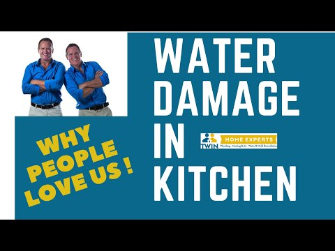 water damage under kitchen cabinets