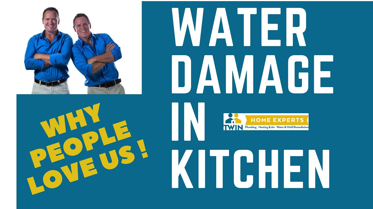 Water Damage Under Kitchen Cabinets - How We Do It - YouTube