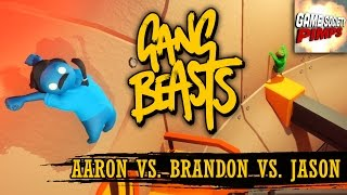 Gang Beasts - Morgan Freeman is God (With Aaron, Jason, & Brandon) - Game SocietyPimps