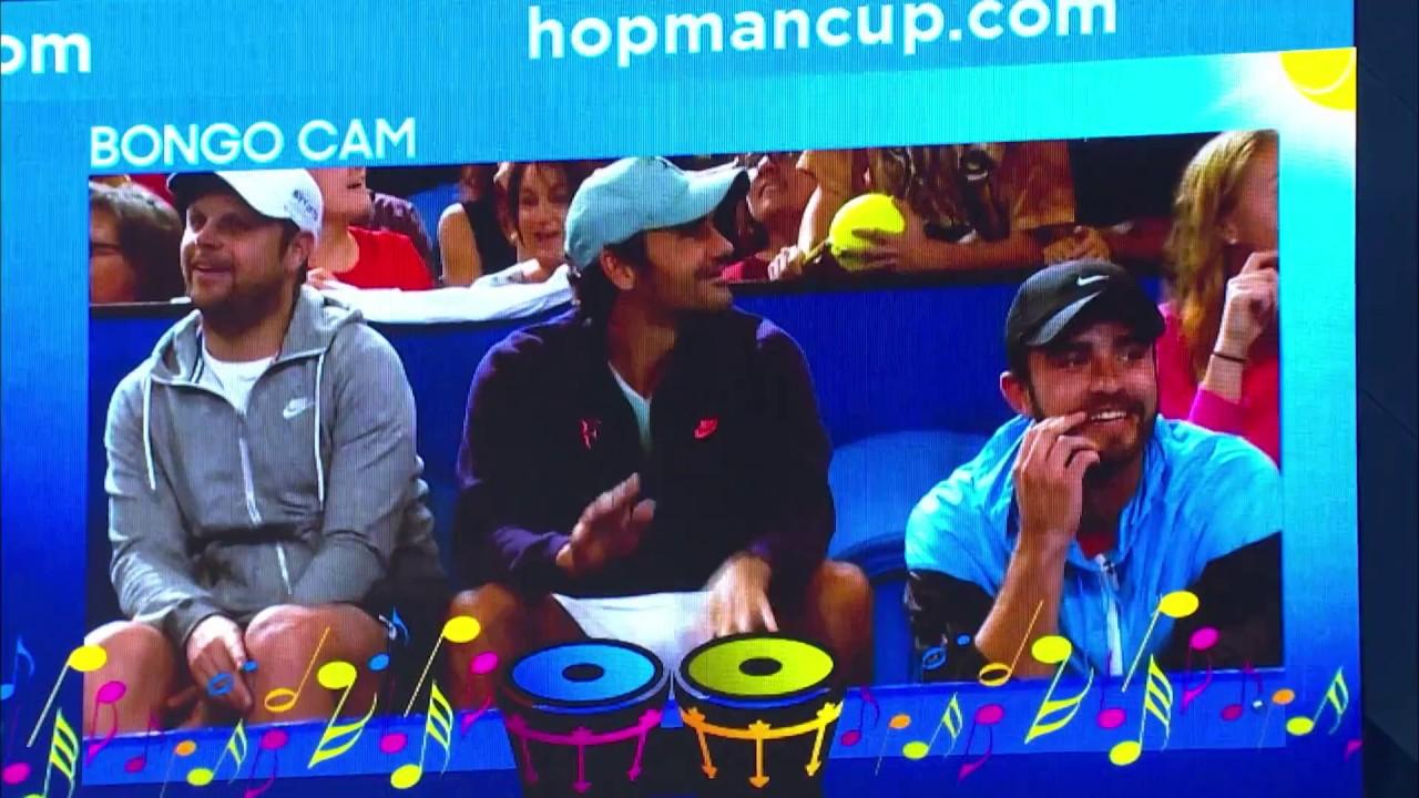 Federer battles Zverev on Bongo Cam - MasterCard Hopman