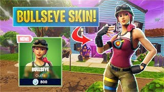 *NEW* Bullseye Skin in Fortnite! (Bullseye Skin Gameplay)