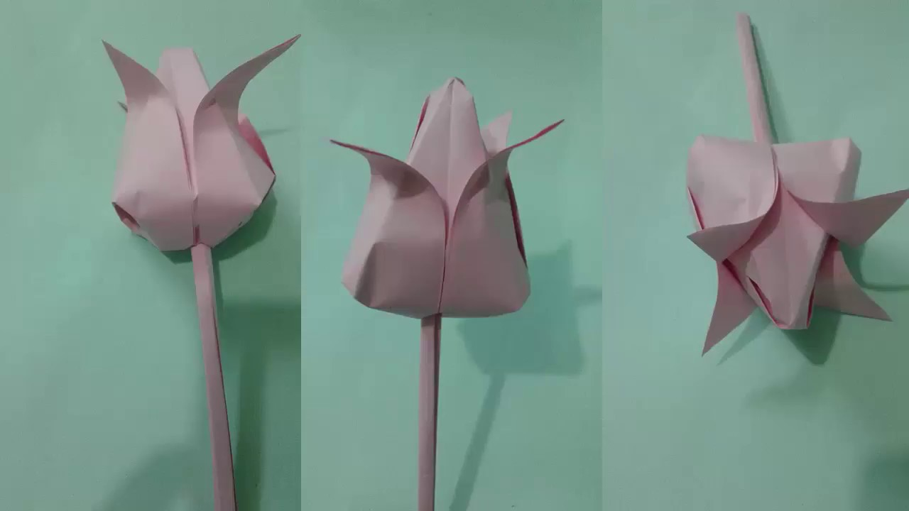 Paper Flower How To Make Paper Flowers Origami Lotus Flower