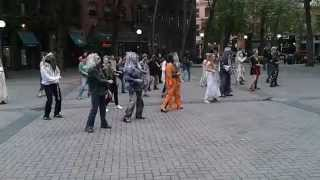 Seattle Thrillers Practice at Pioneer Square Oct. 18, 2014 5pm