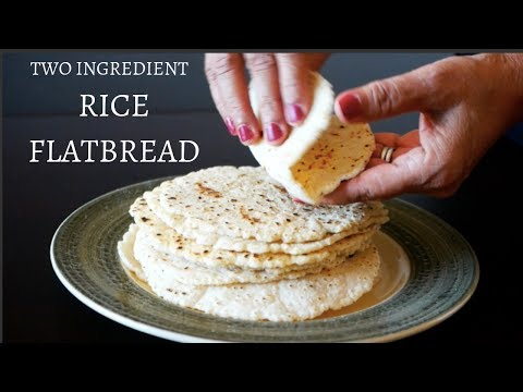 2 Ingredient Rice Bread Recipe | Gluten-Free & Vegan | Chawal Ki Roti
