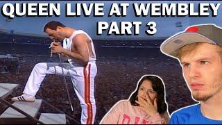 QUEEN LIVE AT WEMBLEY 1986 PART 3 (COUPLE REACTION!) | FREDDIE HAS INSANE RANGE!!!!!!