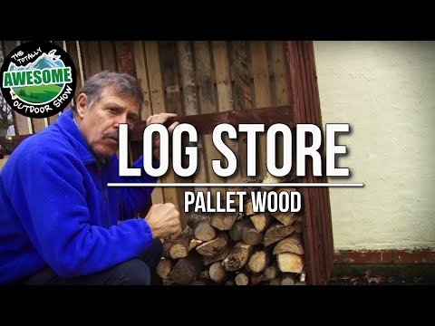 How to build a LOG STORE with PALLET WOOD! Cheap, Simple & Easy! | TA Outdoors