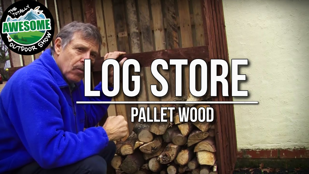 How to build a LOG STORE with PALLET WOOD! Cheap, Simple ...