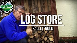 How To Build A Log Store With Pallet Wood! Cheap, Simple & Easy! - Ta Outdoors