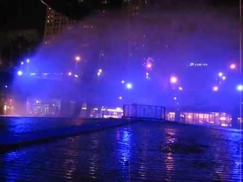 Laser performances @ Fountain of Wealth, Suntec City, Singapore