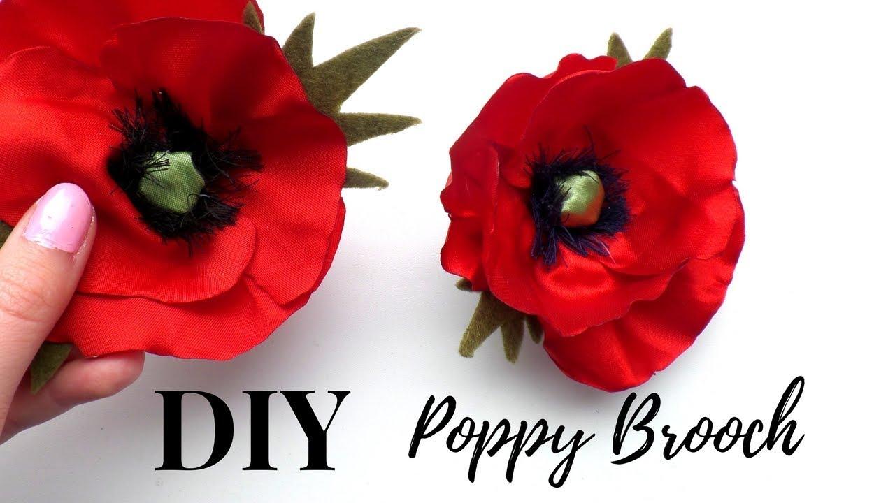 How To Make A Poppy Brooch Diy Flower Brooch Tutorial By Fluffy