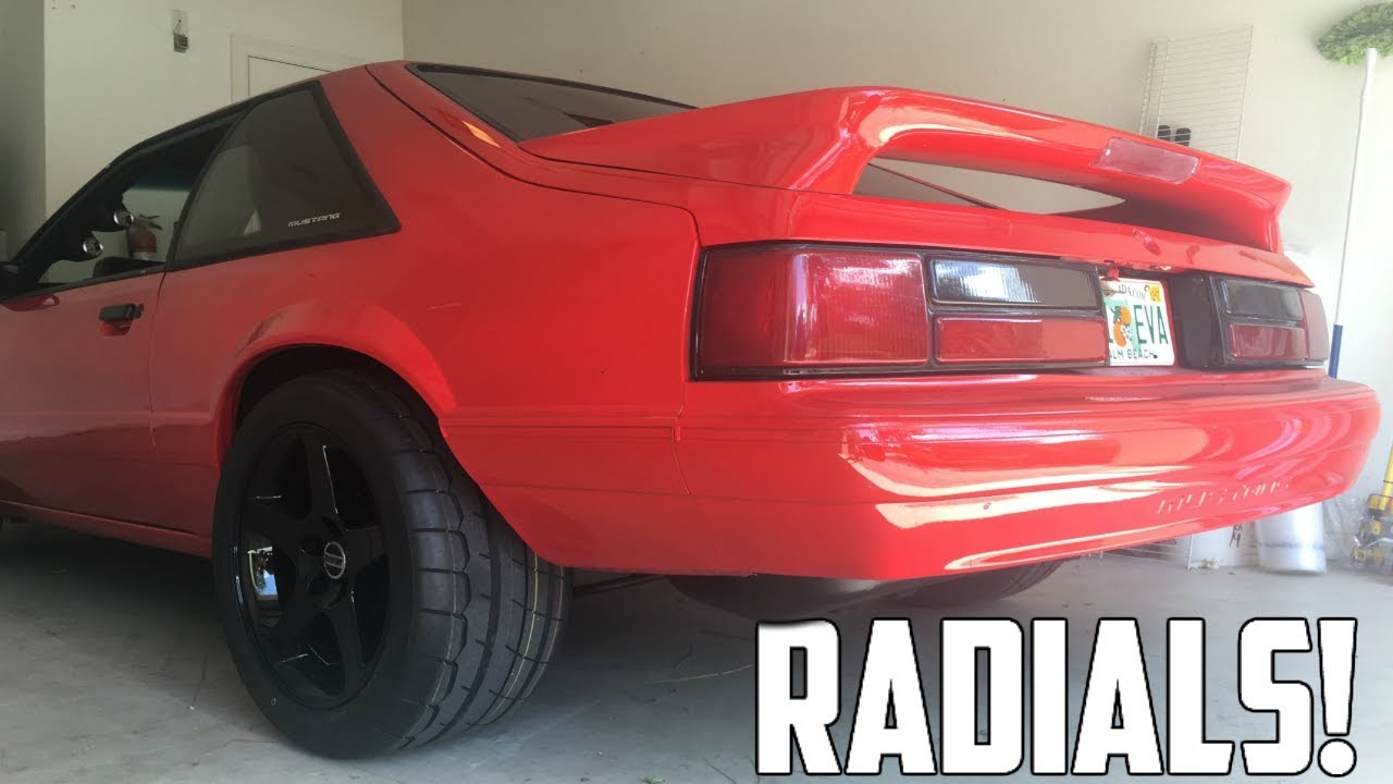 PUTTING DRAG RADIALS ON MY FOXBODY MUSTANG!