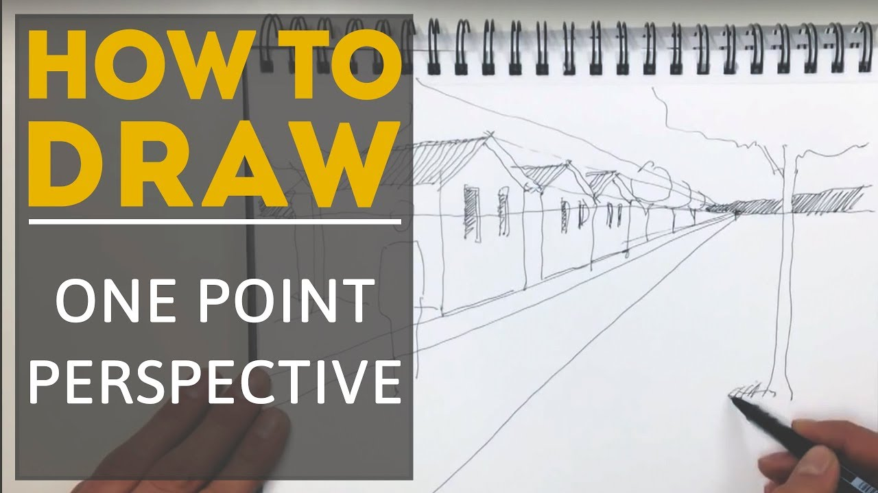 Landscape Architecture Perspective Drawings how to draw a one point perspective - youtube