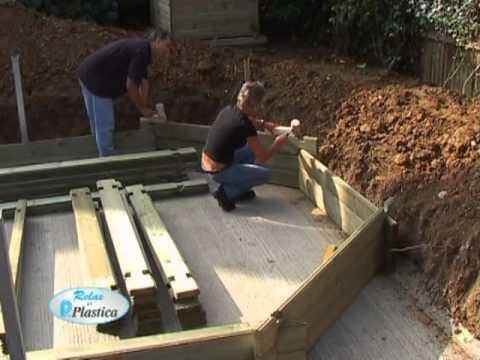 Diy Inground Pool >> How to install a Wooden Pool Part 3/13- Building the Walls - DIY - YouTube