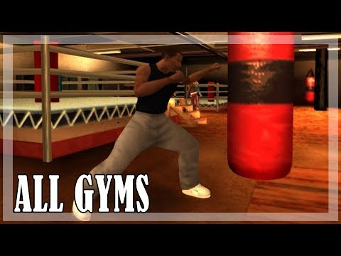 GTA San Andreas - All Gyms and fight moves [PC,1080p, 60fps]