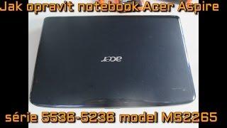 Jak opravit černou obrazovku notebooku Acer Aspire série 5536/5236 model MS2265