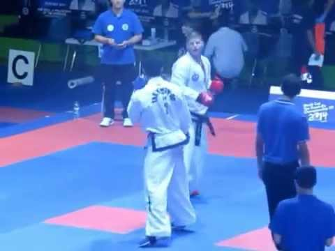 TAEKWON DO ITF CAMPEONATO MUNDIAL ROMA 2014   Combate / Sparring  Carlos Gutierrez