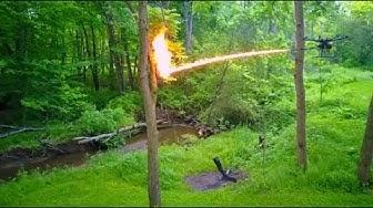 Drohne wird zum fliegenden Flammenwerfer