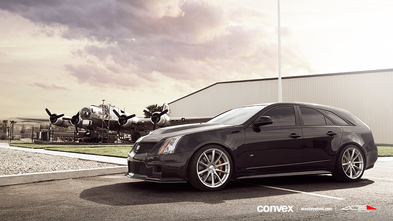 Cadillac Cts V Wagon On 20 Ace Convex Wheels Rims Youtube