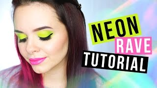 Makeup Tutorial: Neon Rave - Chit Chat Version & First Impressions - Alycia Marie