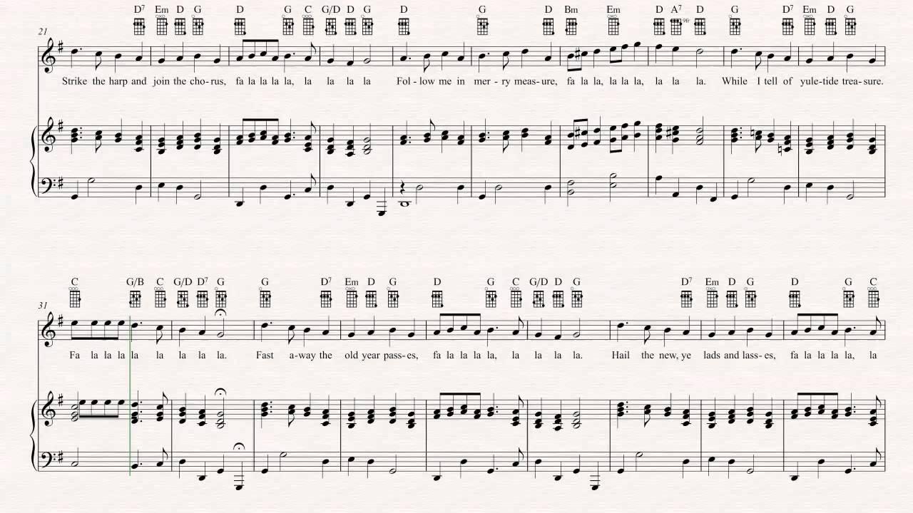 Ukulele - Deck the Halls - Christmas Sheet Music, Chords, u0026 Vocals - YouTube