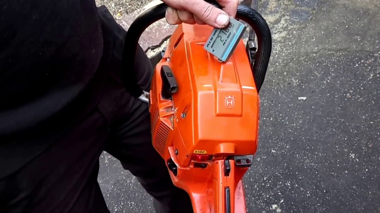 Husqvarna 266 chainsaw idling speed adjustment and high speed
