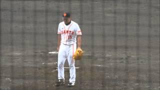 イースタンリーグ公式戦 巨人対楽天(ジャイアンツ球場) 降雨ノーゲーム.