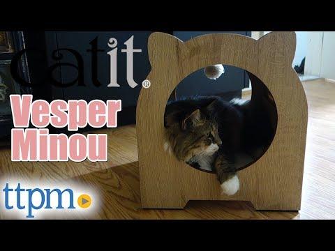 Vesper Minou High-Quality Bench Scratcher and Hideout from Catit