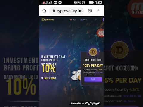أفضل موقع إستثماري cryptovalley بعد 24 سا يعطيك 50% وحد أدنى 1 دولار