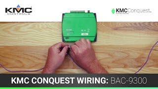 KMC Conquest Wiring: BAC-9300 Series Unitary Controllers
