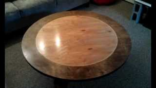 "Wooden Skateboard Table/ ""giant Lazy Susan"""