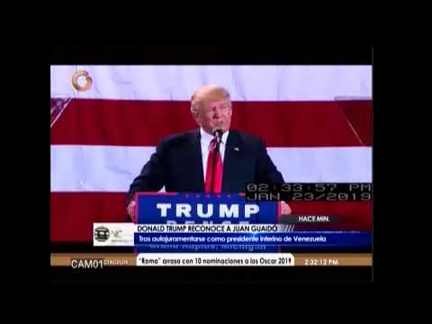 Donald Trump reconoce a Guaidó como presidente de Venezuela