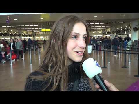 Eurovision 2018 - Belgium - Interview Sennek at Brussels Airport