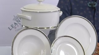 Посуда из белого фарфора Сабина (Sabina) Отводка платина 0011 (Leander, Чехия)(, 2017-01-08T15:20:57.000Z)