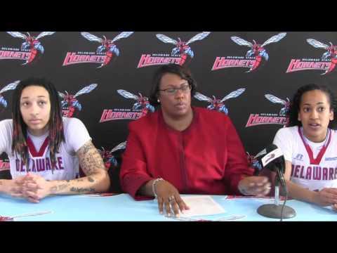 Women's Basketball: Nikkei Blackburn, Barbara Burgess and N'Kayah Postgame Presser vs. SCSU
