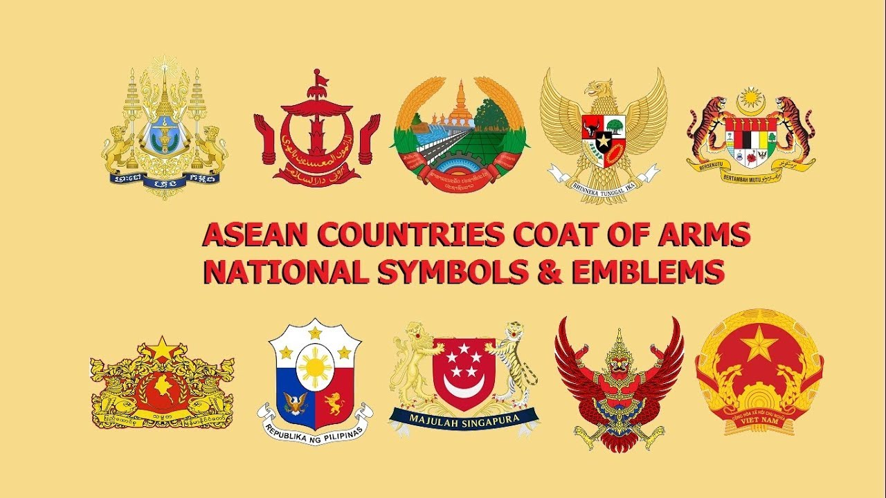 Asean Countries Coat Of Arms National Symbols And Emblems Youtube