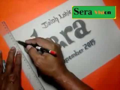 Seni Menulis Indah Membuat Tulisan Nama Anak Youtube