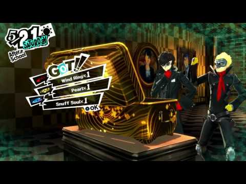 Persona 5 - 5-21: Madarame's Palace: Treasure Hall Lounge: Map Location, Combat, Chest Loot, Masks