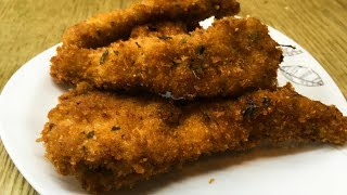 CRISPY CHICKEN STRIPS - MAKE AND STORE RECIPE FOR KIDS LUNCH BOX AND TEA TIME - EASY SNACK