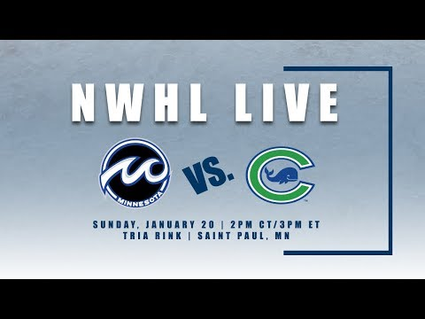NWHL Live: Connecticut Whale at Minnesota Whitecaps 1.20.19