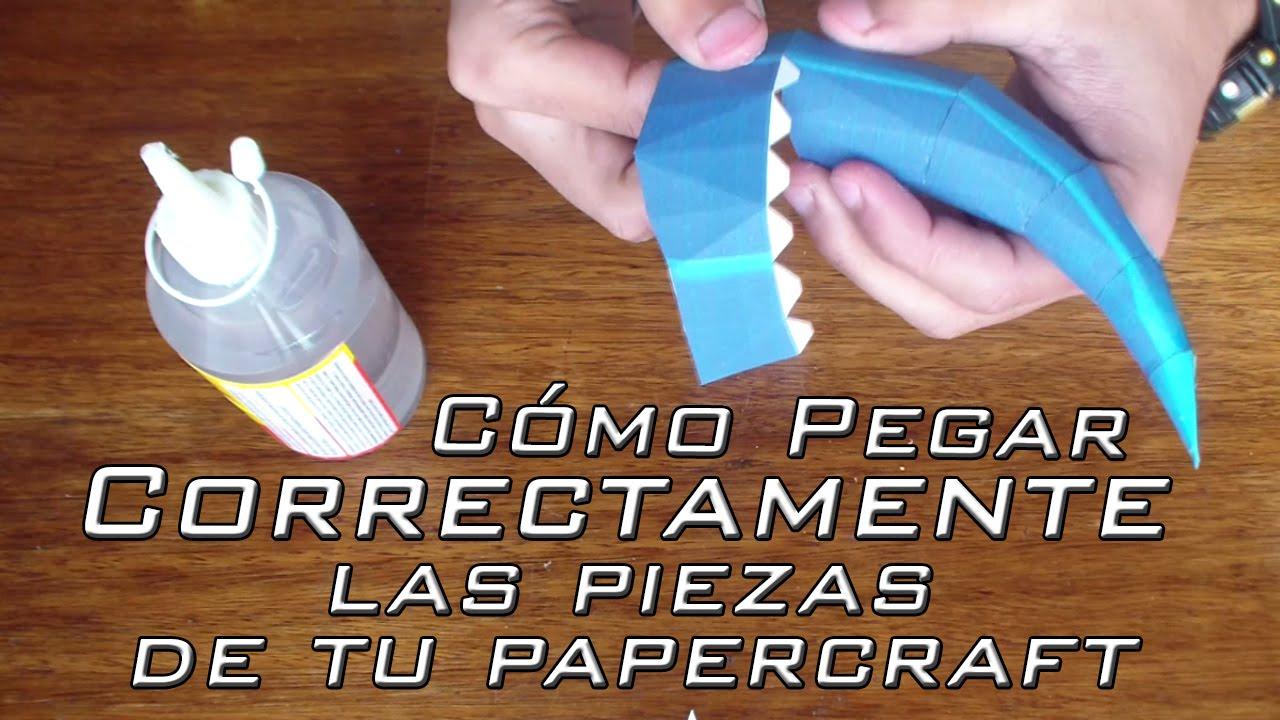 Papercraft Como pegar correctamente las piezas de tu Papercraft | Consejos y Tips para Principiantes #7